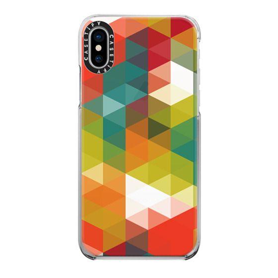 iPhone X Cases - Semi-Transparent Cubism