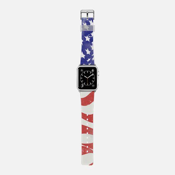 USA FLAG - Saffiano Leather Watch Band