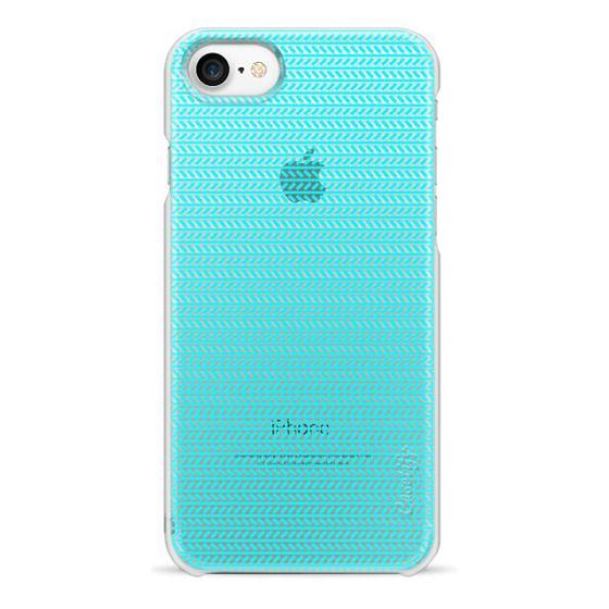 iPhone 7 Cases - Sea Blue Herringbone