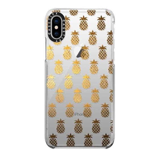iPhone X Cases - Golden Pineapples