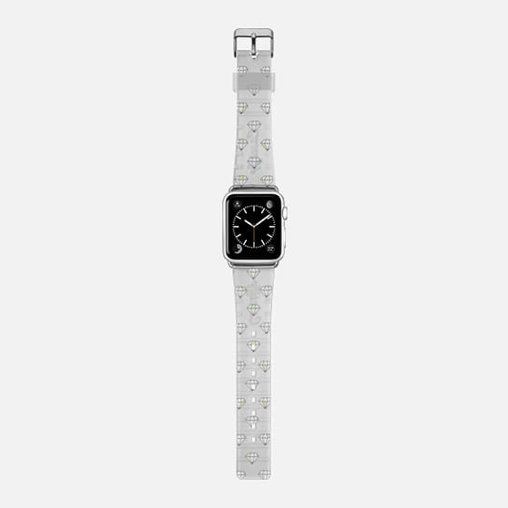 Diamonds In The Sky - Saffiano Leather Watch Band