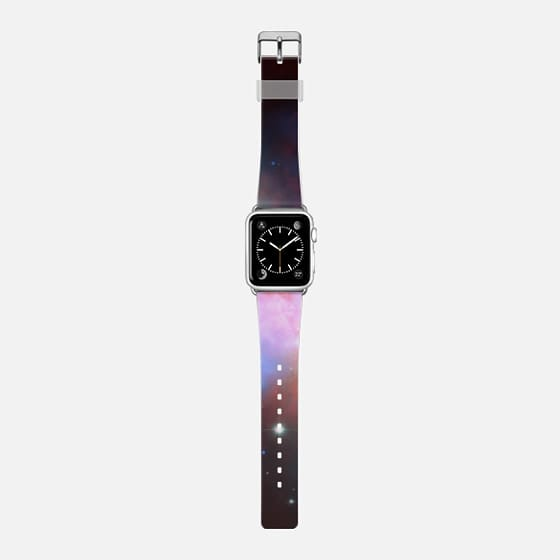 Cosmic Galaxy - Saffiano Leather Watch Band