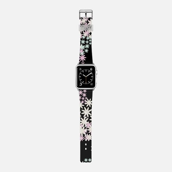 Star Florals - Saffiano Leather Watch Band
