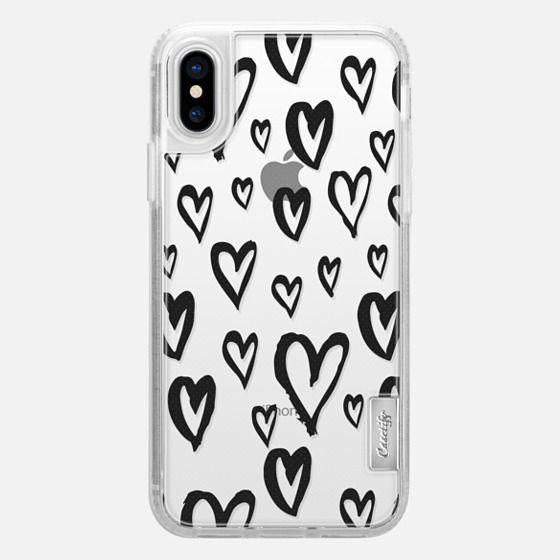 Inky Hearts - Glitter Case