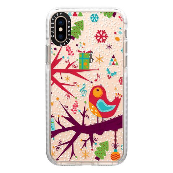iPhone XS Cases - Red bird