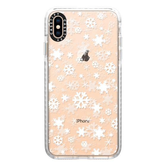 iPhone XS Max Cases - Snowflake - white