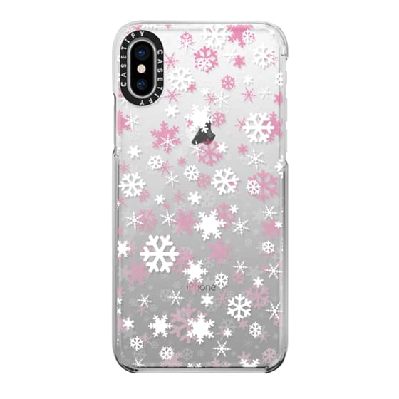 iPhone X Cases - Snowflake - pink