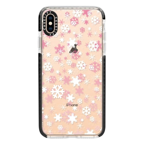 iPhone XS Max Cases - Snowflake - pink