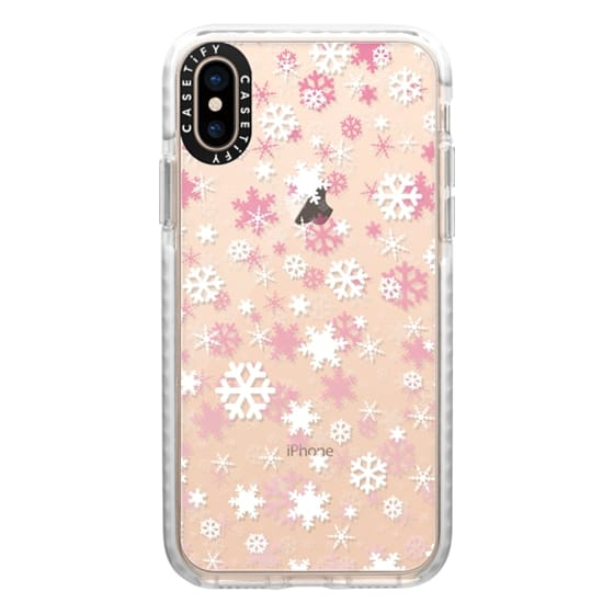 iPhone XS Cases - Snowflake - pink