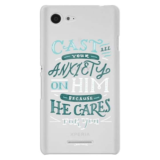 Classic Snap Sony Xperia E3 Case - 1 PETER 5-7 BIBLE VERSE CASE