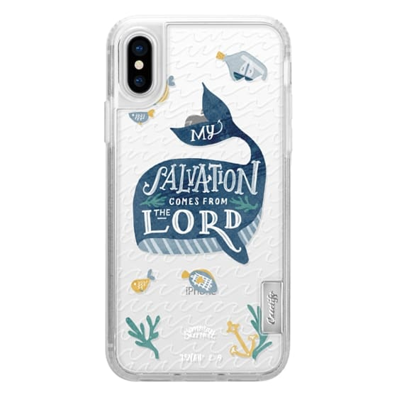 iPhone X Cases - Jonah 2:9  Bible Verse Case