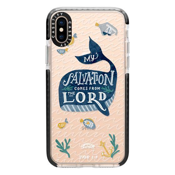 iPhone XS Cases - Jonah 2:9  Bible Verse Case