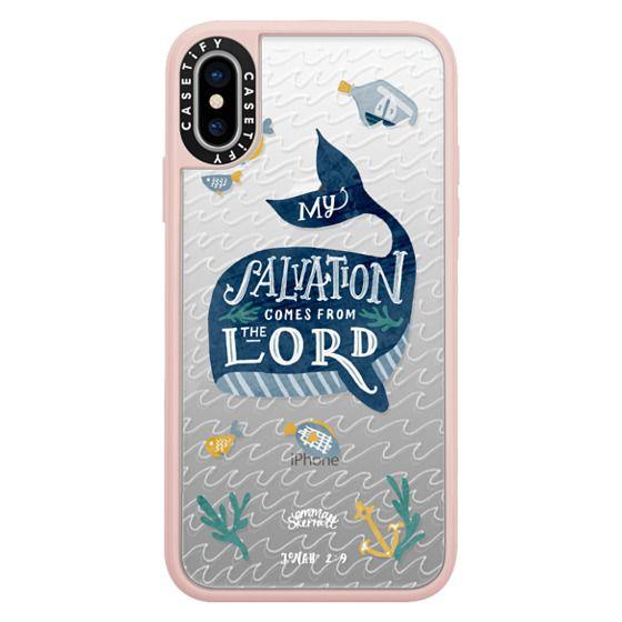 iPhone X Cases - Jonah 2:9  Bible Verse Case