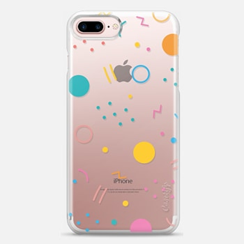 iPhone 7 Plus ケース Colorful Shapes (Clear)