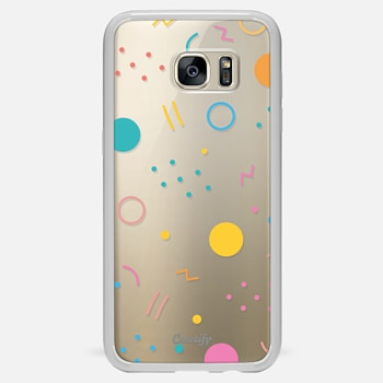 Samsung Galaxy S7 Edge ケース Colorful Shapes (Clear)