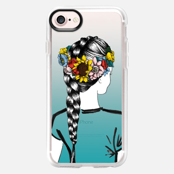 Festival Flower Crown (Teal) - Classic Grip Case
