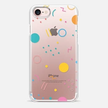 iPhone 7 Case Colorful Shapes (Clear)