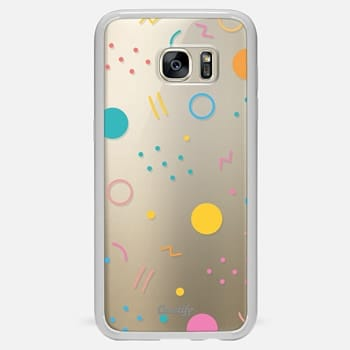 Samsung Galaxy S7 Edge Case Colorful Shapes (Clear)