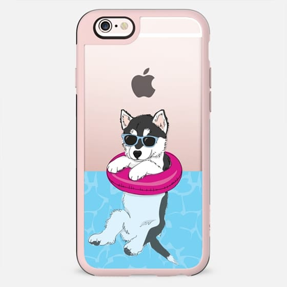 Swimming Husky - New Standard Case