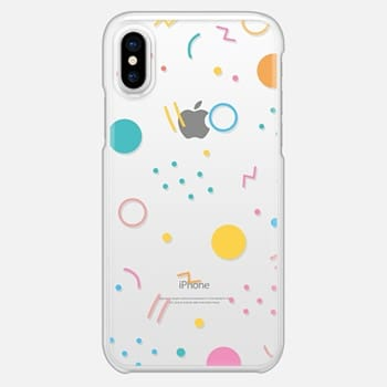 iPhone X Case Colorful Shapes (Clear)