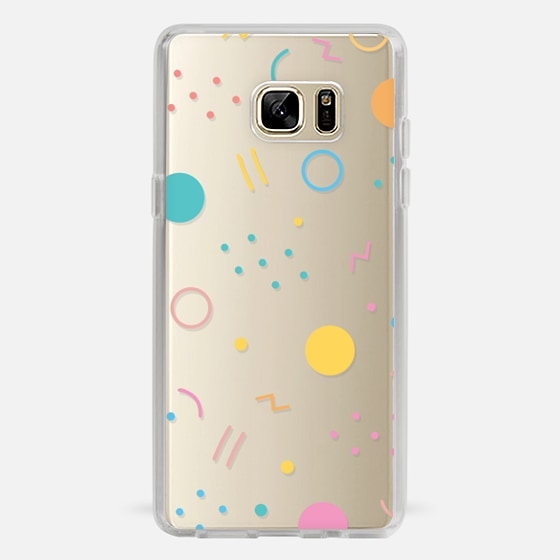 Galaxy Note 7 Case - Colorful Shapes (Clear)