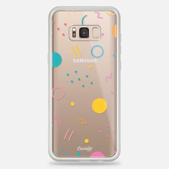 Galaxy S8+ Case - Colorful Shapes (Clear)