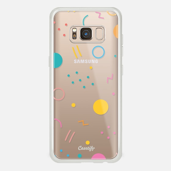 Galaxy S8 Case - Colorful Shapes (Clear)