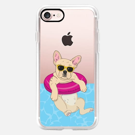 Swimming Frenchie (Fawn) -