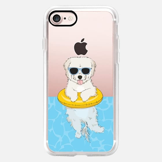 Elvis the Swimming Maltipoo - Snap Case