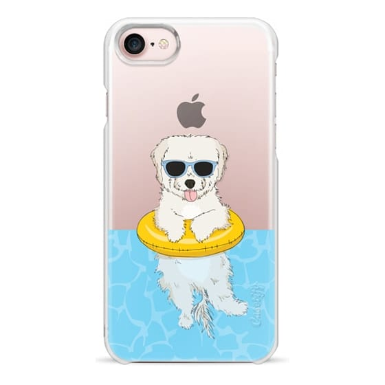 iPhone 7 Cases - Elvis the Swimming Maltipoo