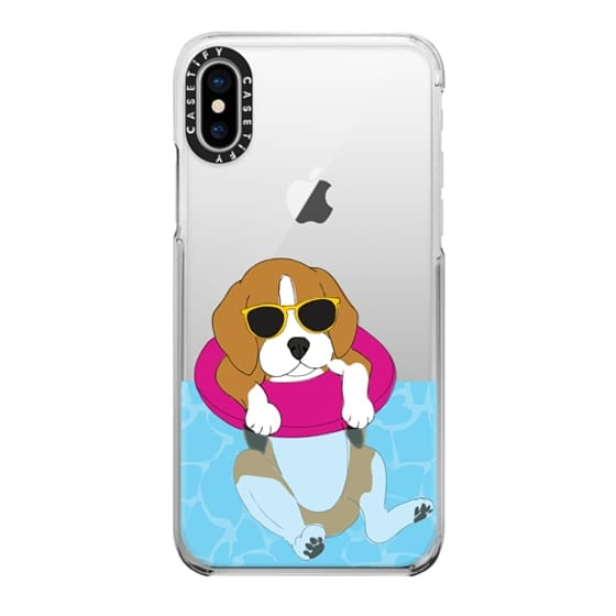 iPhone X Cases - Swimming Beagle