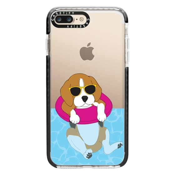 iPhone 7 Plus Cases - Swimming Beagle