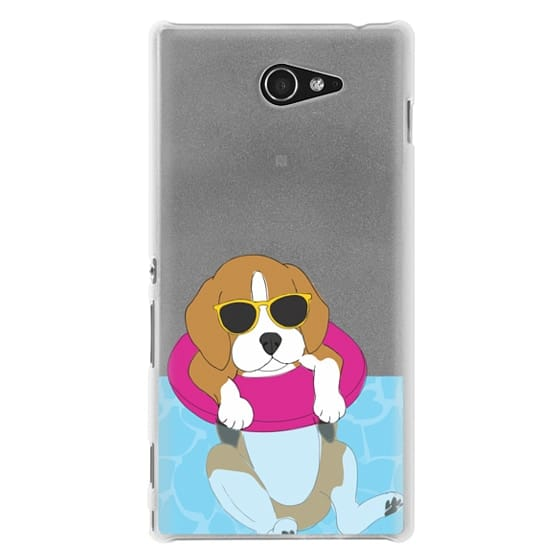 Sony M2 Cases - Swimming Beagle