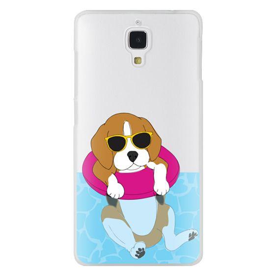 Xiaomi 4 Cases - Swimming Beagle