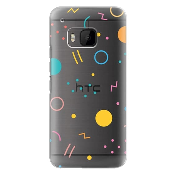 Htc One M9 Cases - Colorful Shapes (Clear)