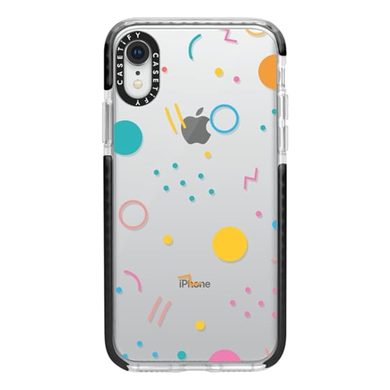iPhone XR Cases - Colorful Shapes (Clear)
