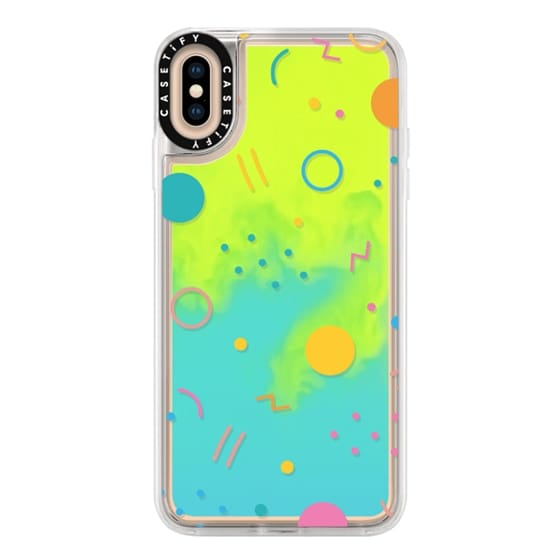 iPhone XS Max Cases - Colorful Shapes (Clear)