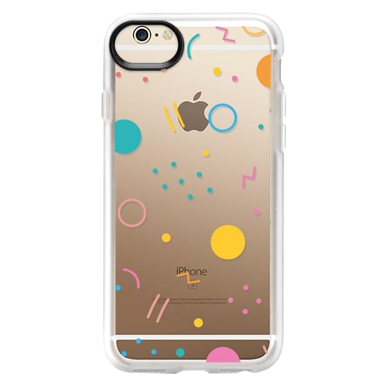 iPhone 6 Cases - Colorful Shapes (Clear)