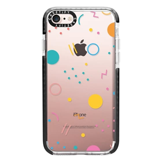 iPhone 7 Cases - Colorful Shapes (Clear)