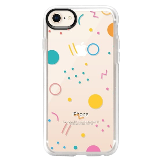 iPhone 8 Cases - Colorful Shapes (Clear)