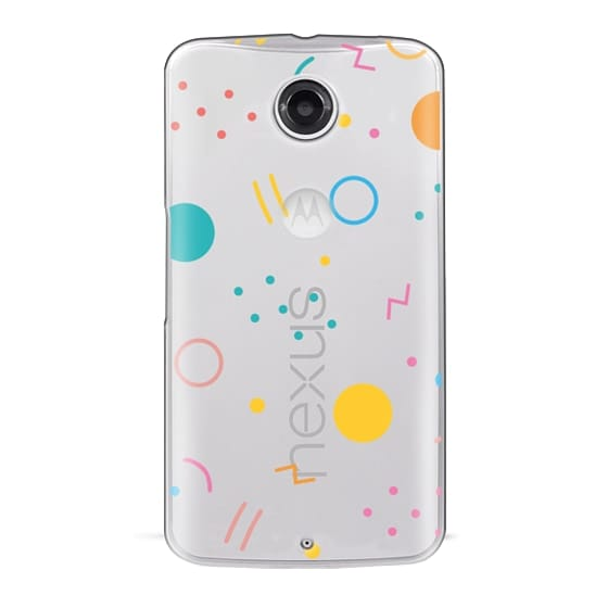 Nexus 6 Cases - Colorful Shapes (Clear)