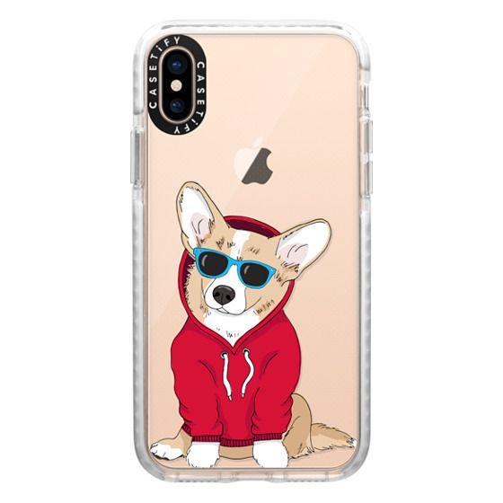 iPhone XS Cases - Hipster Corgi