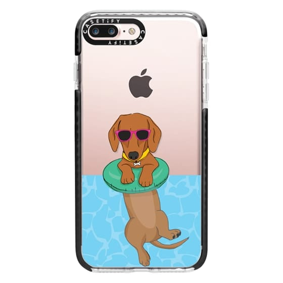 iPhone 7 Plus Cases - Swimming Dachshund