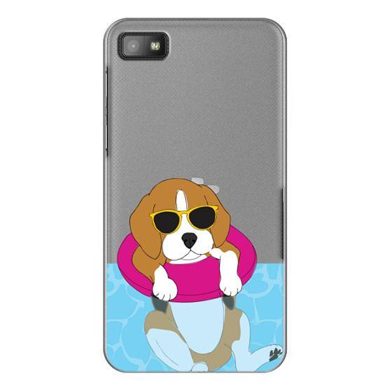 Blackberry Z10 Cases - Swimming Beagle