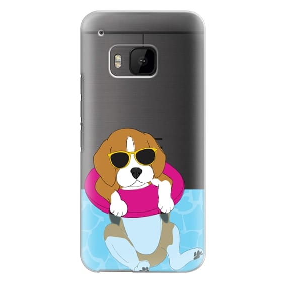 Htc One M9 Cases - Swimming Beagle