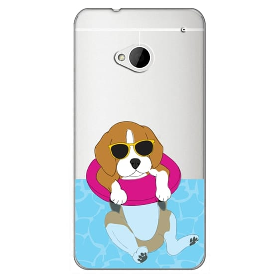 Htc One Cases - Swimming Beagle