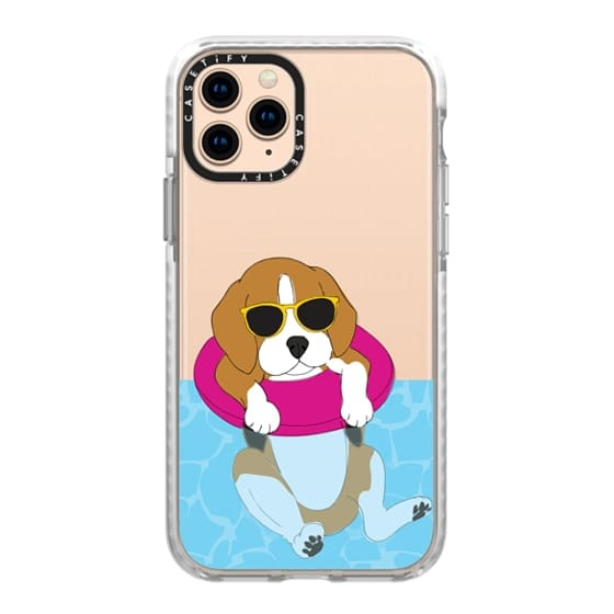 iPhone 11 Pro Cases - Swimming Beagle