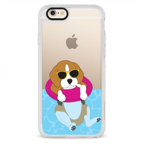 iPhone 4 Cases - Swimming Beagle