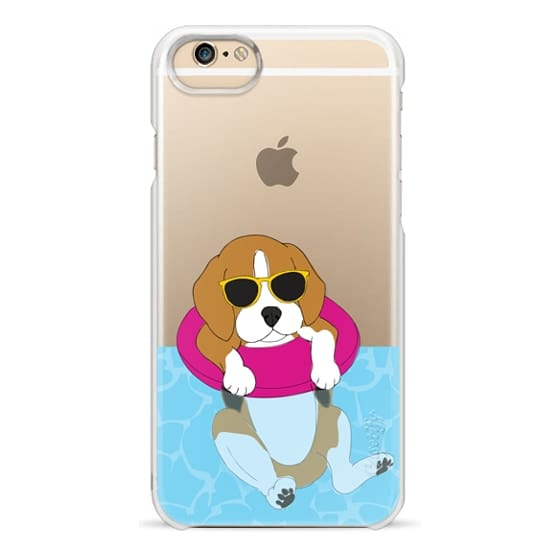 iPhone 6 Cases - Swimming Beagle
