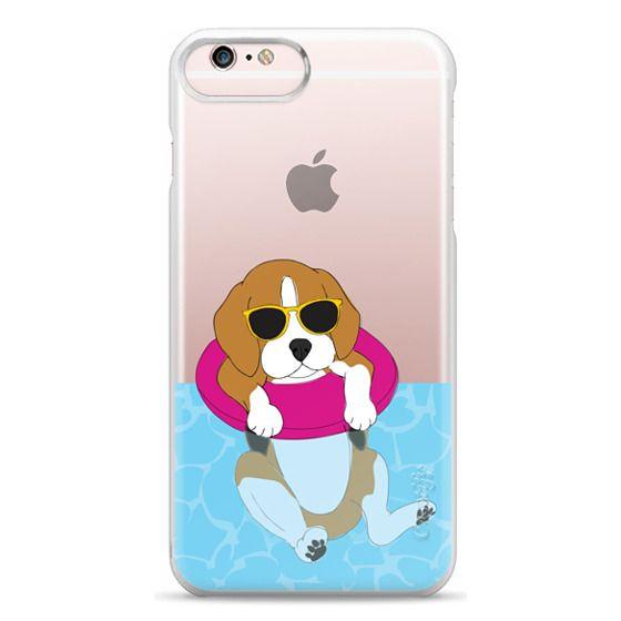 iPhone 6s Plus Cases - Swimming Beagle